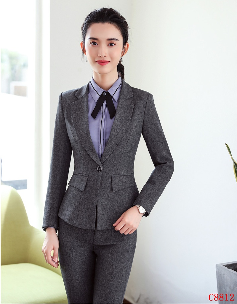 Donna Eleganti Disegni Dei Del Ufficio Pantaloni Blazer Di Stili Per