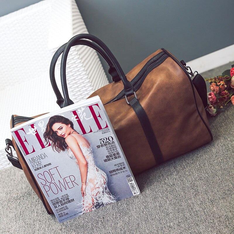 PU läder resväskan snygga kvinnor casual handväska män resväskor - Väskor för bagage och resor - Foto 2