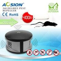 배 Aosion 다목적 쥐 트랩 전자 초음파 해충 제어 마우스 쥐 모기 해충 펠러