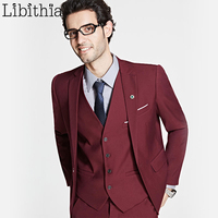 Jacket Pant Vest Three Piece Suits Men Big Size 5XL 6XL One Button Formal Slim Fit
