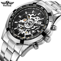 Winner Watch Men Skeleton Automatic Mechanical Watch Skeleton Vintage Man Watch Men Watch Top Brand Luxury