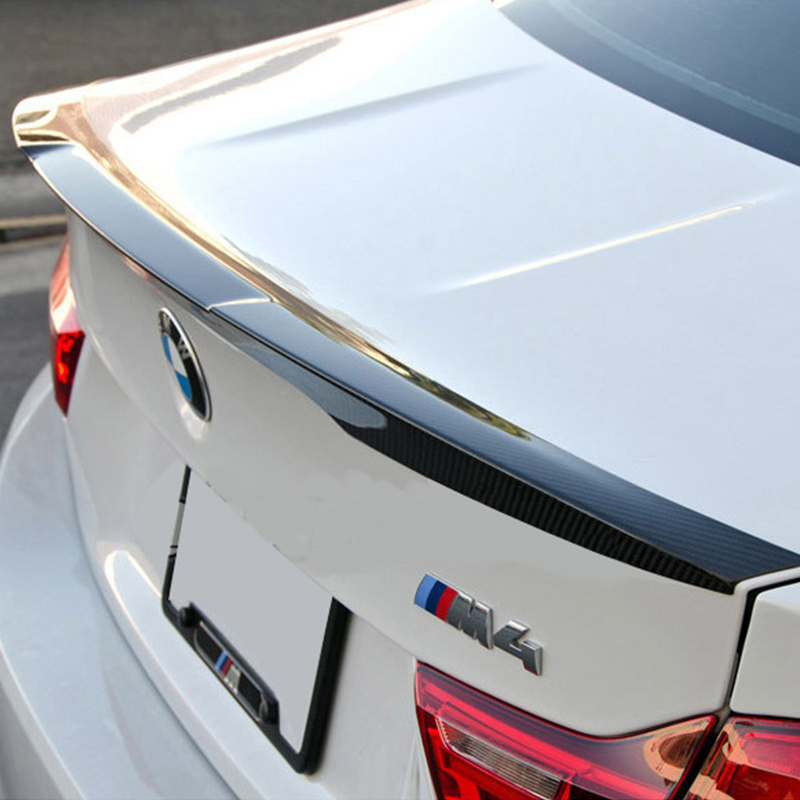 E90 Modified M4 Style Carbon Fiber Rear Trunk Luggage Compartment Spoiler Car Wing for BMW E90 2005-2012