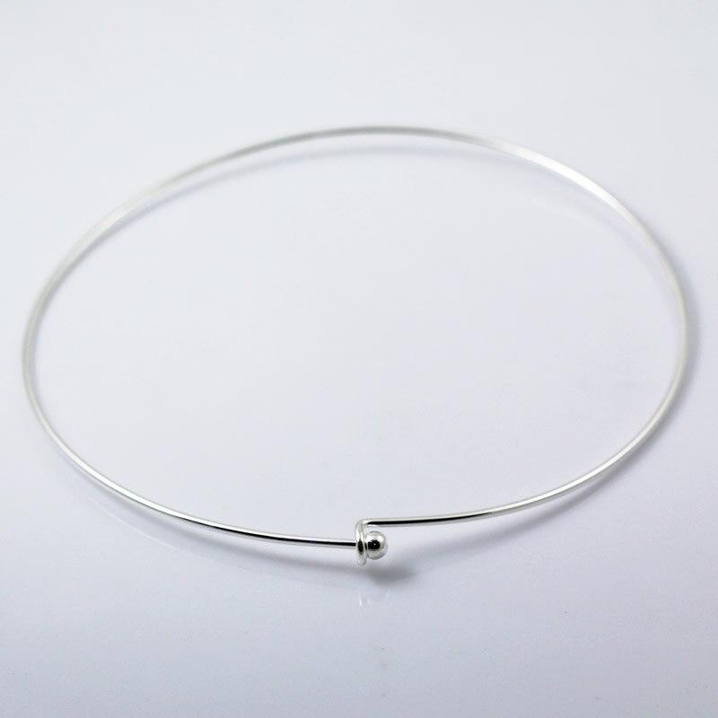 Beadsnice женщин ювелирные изделия латунь ожерелье внутренний диаметр 122 мм внешний diameter125mm 2 мм толщиной шарик 6 мм никель свободный привести бе...