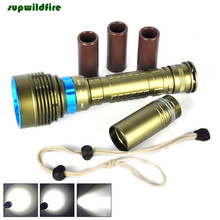 Underwater 200m 20000LM 7x XM-L2 LED Scuba Diving Flashlight 3X18650/26650 Torch Flashlight Free Shipping #NO19