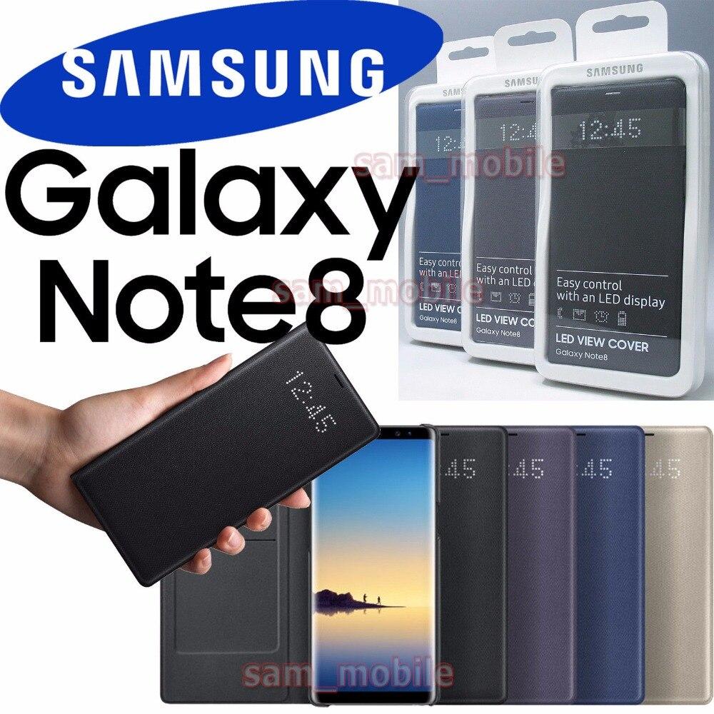 100% Original Samsung LED Ver Inteligente Case Capa Do Telefone para Samsung Galaxy Note8 N950F EF-NN950P Com Função Do Sono