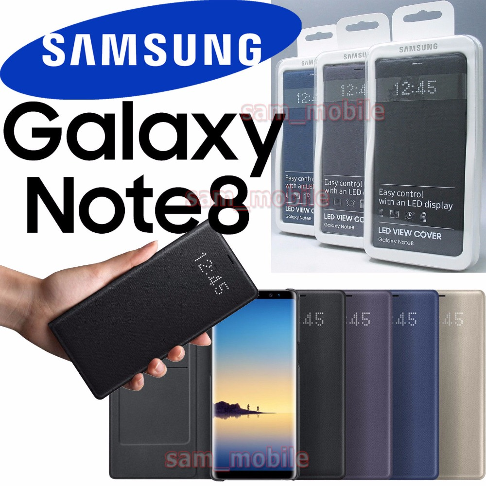 100% Original Samsung LED View Smart Cover Phone Case for Samsung Galaxy Note8 N950F EF NN950P With Sleep Function