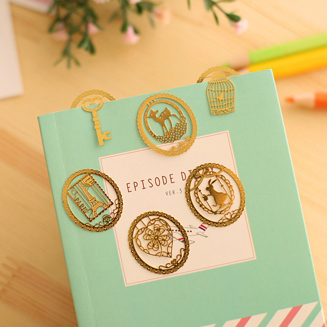 FangNymph Cute Lace Cartoon Animal Metal Bookmark Creative Clip Page Bookmarks School Office  Supplies Stationery
