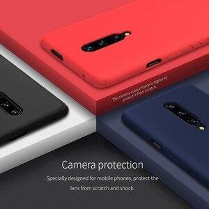 Image 5 - Nillkin 고무 포장 된 보호 케이스 oneplus 7 프로 슬림 소프트 액체 실리콘 shockproof 전화 가방