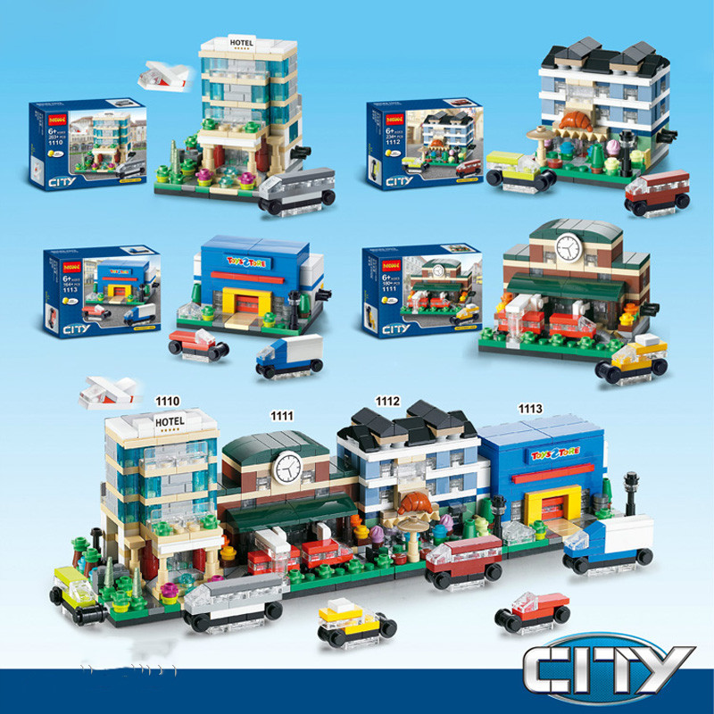 Building Blocks Compatible with DG1110-1113  Models Building Kits Blocks Toys Hobby Hobbies For Chlidren