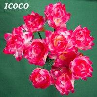 ICOCO 10 teile/satz Wasserdichtes Design Elektrische Boden Licht Schöne Blume Lotus Form U-licht für Garten Dekoration Verkauf