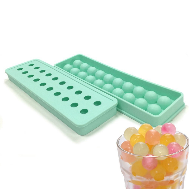 1 STKS 20 Gaten Siliconen Ice ballen Vormen Voor Ijs Siliconen Ijsbakje Trays Siliconen Dienbladen Bal Maker Mold Cubes TW-011