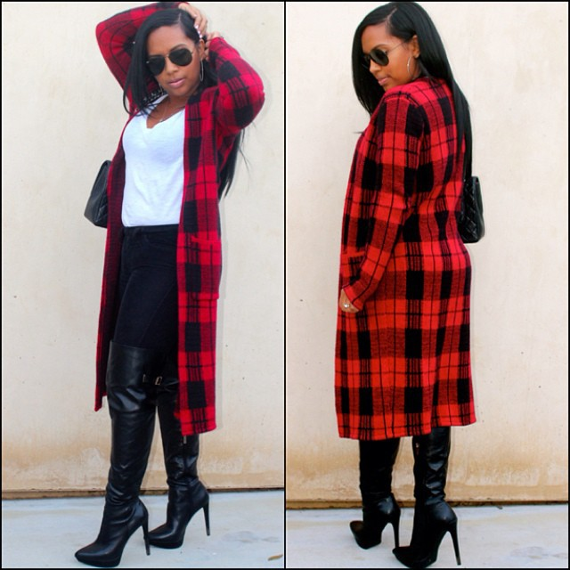 Popular Red Plaid Coat-Buy Cheap Red Plaid Coat lots from China