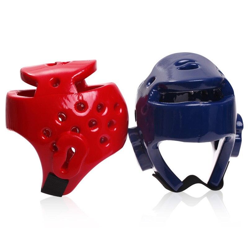 Детей и взрослых шлем красные, синие наполовину покрыт головные уборы Санда/каратэ/тайский/Boxeo/бокс начальник протектор S-XL