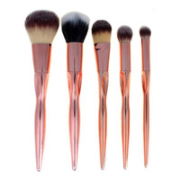 Hot Women's Fashion 5PCS Cosmetic Makeup Brush Sets Soft Eyelashes Eyeshadow Brush Beauty Tool Pincel Maquiagem Drop Shipping Health & Beauty