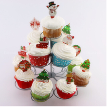 Multi-Functional 3 Tier 13 Metal Christmas Tree Cupcake Wedding Birthdays Party Stand Cup Cake Holder Table Christmas HO19108
