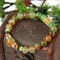 Mantra prayer beads bracelet transport natural peacock agate gem bracelet women bracelet fashion cuff bracelets 0294