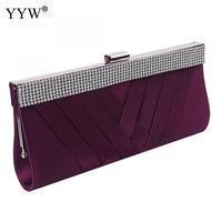 642e72f02 Blue Women Evening Bags Small Handbag Purple Purse Party Day Clutch Bag  Rhinestone Long Hand Bag