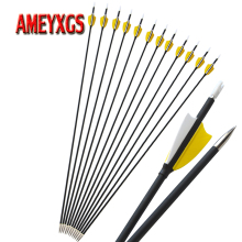9/12pcs Archery 31inch Spine 1000 Carbon Arrow 2 Turkey Feathers Composite Fiber Arrows For Hunting Shooting Accessories