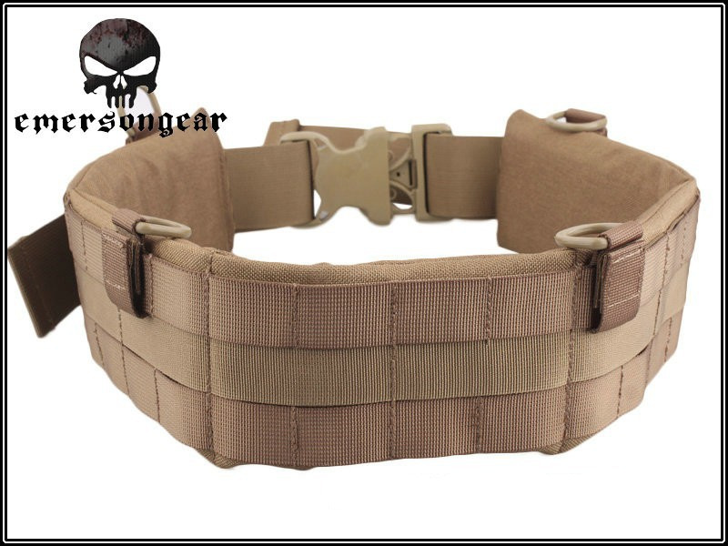 EMERSON MOLLE Padded Patrol Belt Men sports Military Army canvas belt coyote brown EM5584 Waist Support