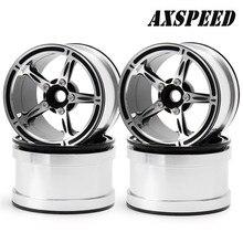 #23 2.2 inch metal Beadlock wheel Rims silver for Rc car wraith 90048 RR10 RC Rock Crawler