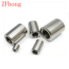 10PCS M6*10/15/20/25/30 OD=10 Stainless steel 304 round coupling nut