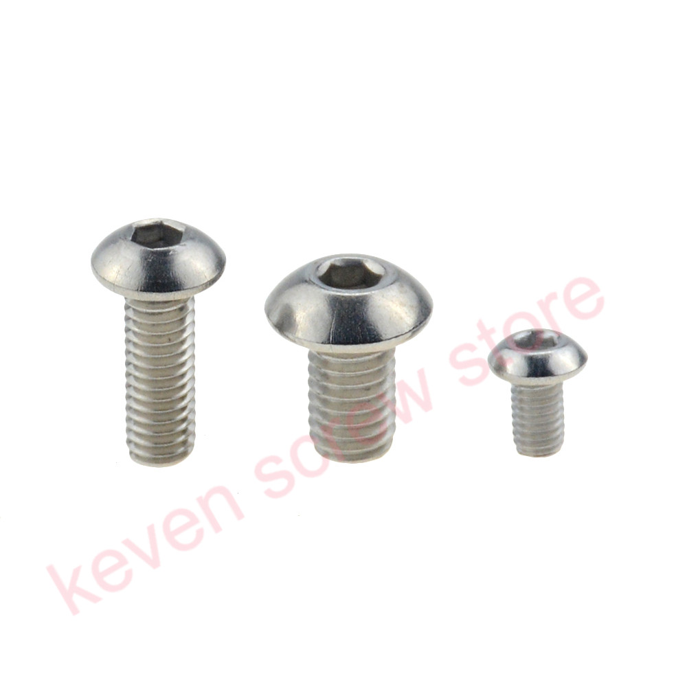 100pcs/Lot M2x3 mm <font><b>M2*3</b></font> mm yuan cup Half round head 304 Stainless Steel Hex Socket Head Cap <font><b>Screw</b></font> Bolts image