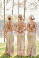 2016 Europe Burst Models Fashoin Sexy Long Cocktail High Grade Sequined Slim Dress Wedding Bridesmaid Dresses
