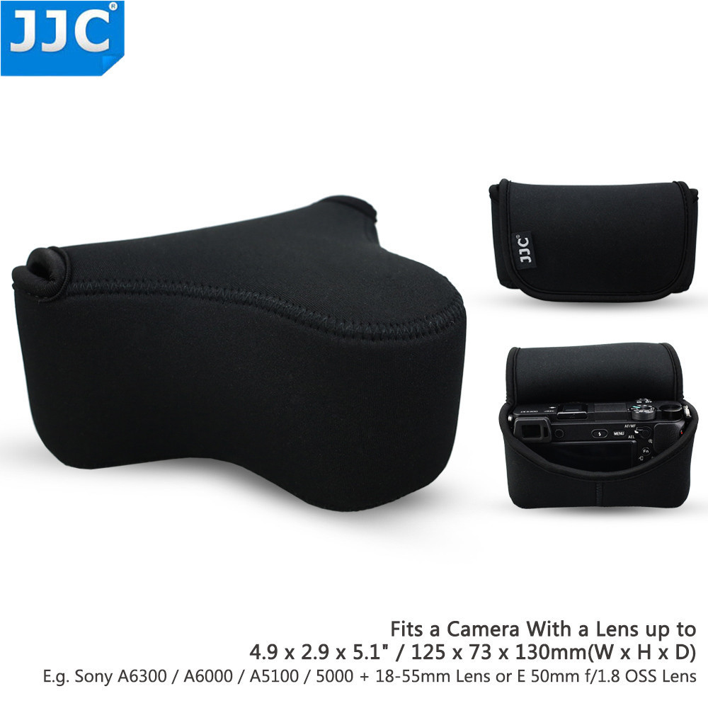 JJC Camera Case for Sony A6300/A6000/A5100/A5000/NEX3N+18-55mm 50mm f/1.8 OSS for Fujifilm X-M1 X-T10+16-50mm Lens Bag Pouch