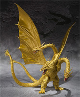 Movie Gojira 3 Head Golden Dragon King Ghidorah BJD Joints Moveable PVC Action Figure Collectible Model Toys