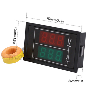 Image 3 - DL85 AC80 500V 100A 60A Dual Display Voltage Current Meter Detector Frequency Meter Amperimetro LED Voltmeter Ammeter AC Meter