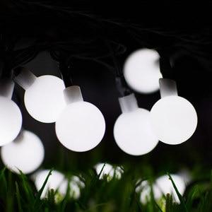 Image 2 - 7M topu dize işıklar güneş enerjili 50LED noel işık Patio aydınlatma ev bahçe çim parti süslemeleri