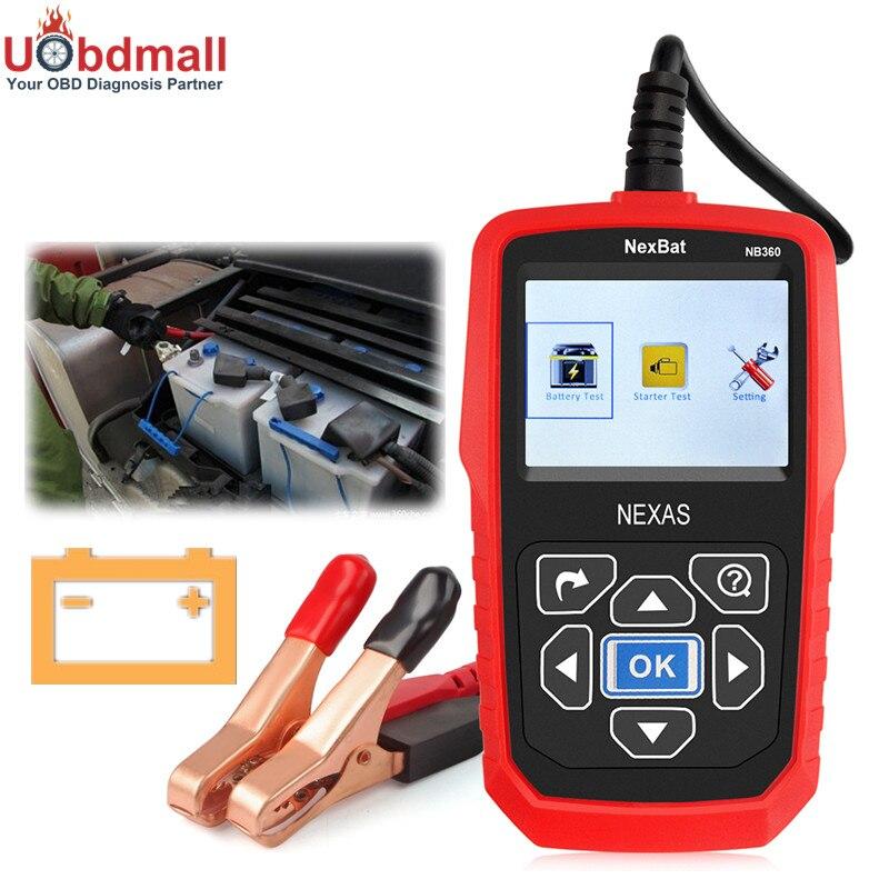Prix pour 12 V et 24 V Voiture Camion Batterie Testeur NB360 Analyseur de Batterie Pour Batterie Tension/Au Démarrage en Charge Tension D'essai mieux Que BST460