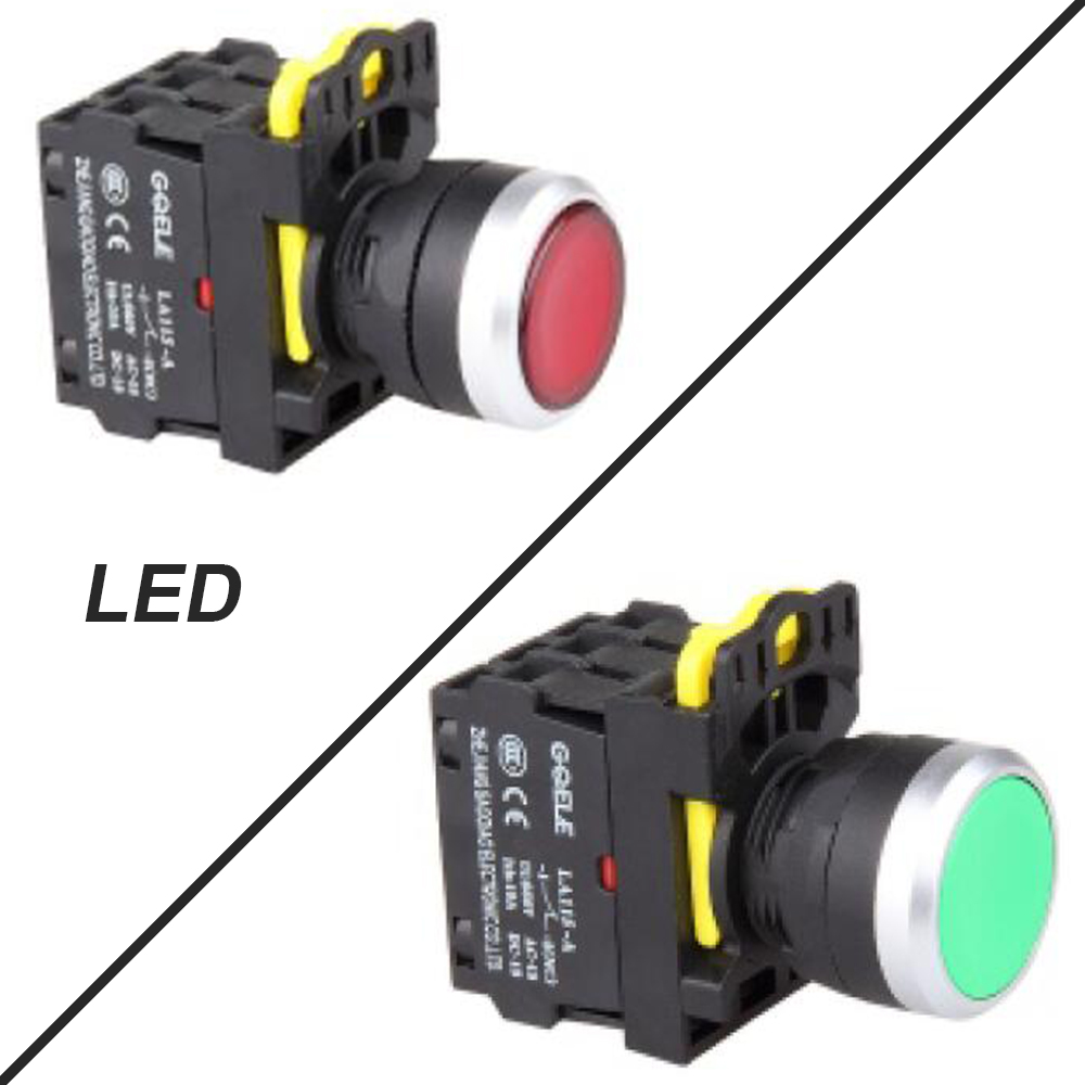 Фото 5 PCS Push button switch Industrial switch LED Latching OR Momentary Waterproof IP65 , Illuminated 1NC 1NO 2NO 2NC