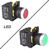 Push Button Switch Industrial Switch LED Latching OR Momentary Waterproof Illuminated IP65 1NC LA115 A5 01TD