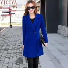 d2fa59e030b1 YICIYA mujer otoño invierno abrigo chaqueta abrigo de lana trajes de ropa  plus tamaño grande negro
