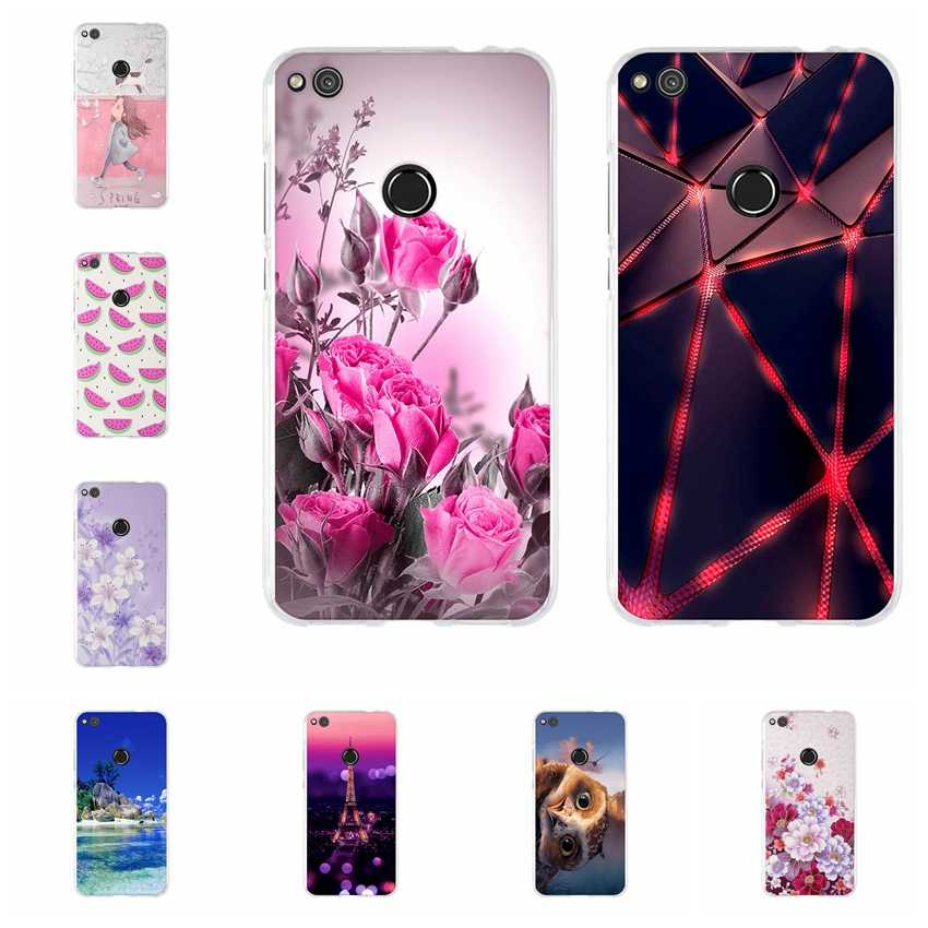 Case For Huawei P8 lite 2017/Honor 9 Lite Soft TPU Cover For Huawei Honor 8 lite / P9 Lite 2017 3D Relief Cases Back Thin Light