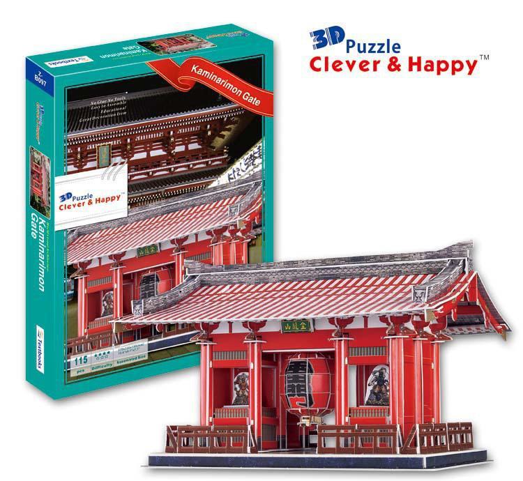 3D puzzle paper building model toy Japan Thunder kaminarimon gate Architecture