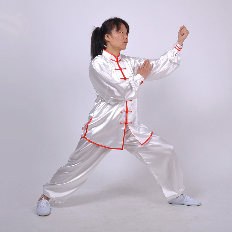 Traditional classical Chinese tai chi suits White Red Kung Fu uniforms  South Korea Martial Arts Costume wushu Suit for men women on Aliexpress com  |