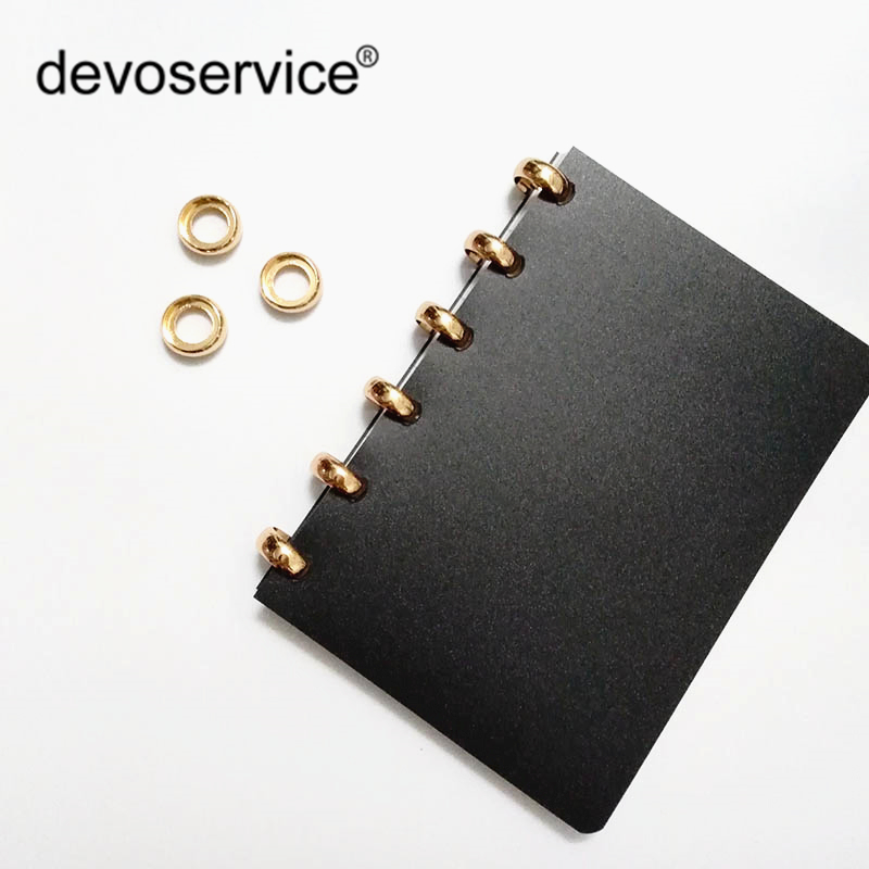 High Quality 10pcs Sliver Gold Metal Loose Leaf Book Binder Mushroom Hole Ring Album Scrapbook Craft For Scrapbooking Office