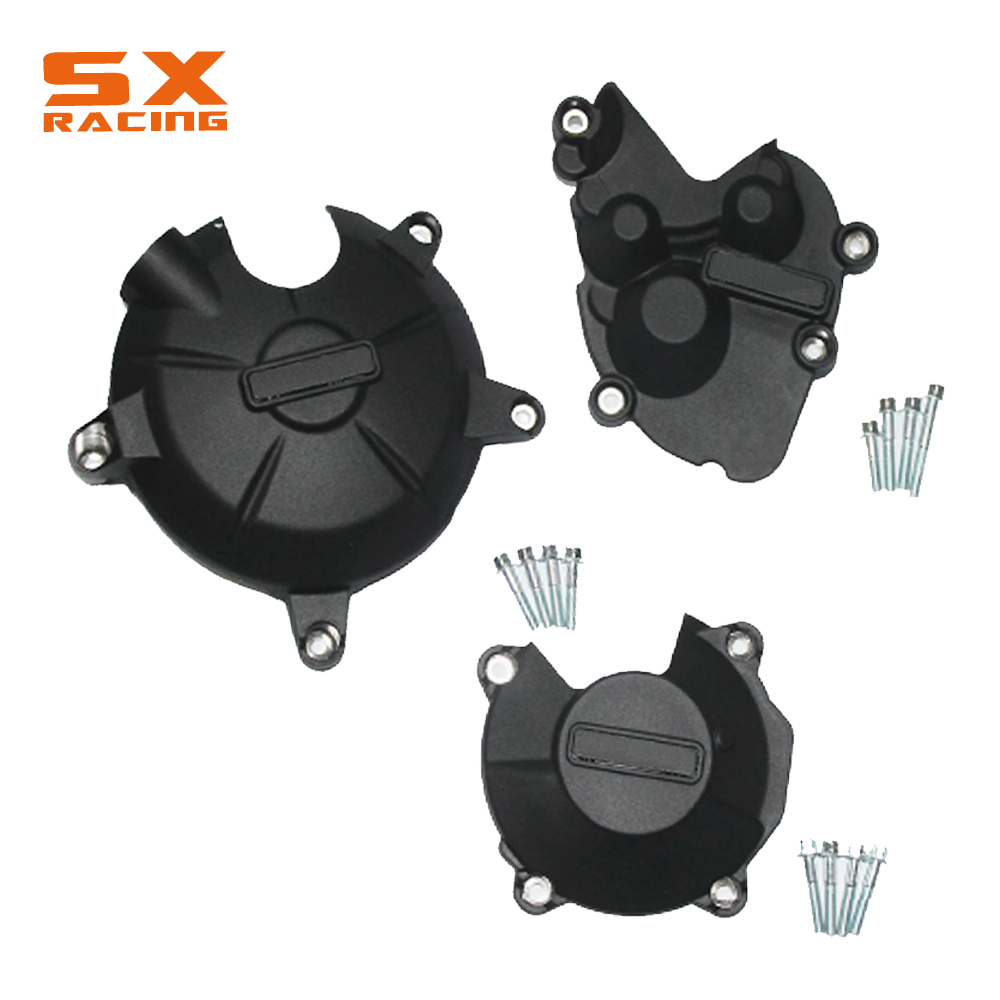 Black Motorcycle Engine Stator Guard Cover Protection Kit For KAWASAKI ZX-6R ZX6R ZX 6R 2009-2016 09 10 11 12 13 14 15 16 330 6r