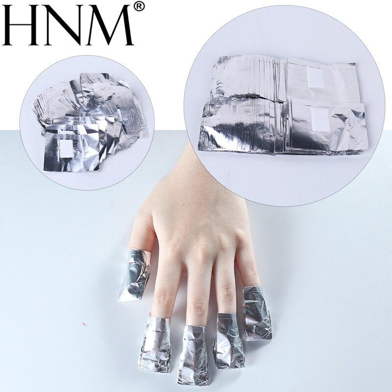 HNM 50PCS/LOT Tin Foil Aluminium Removal Wraps Soak Off Acrylic Gel Nail Polish Remover Manicure Nail Care Nail Art DIY