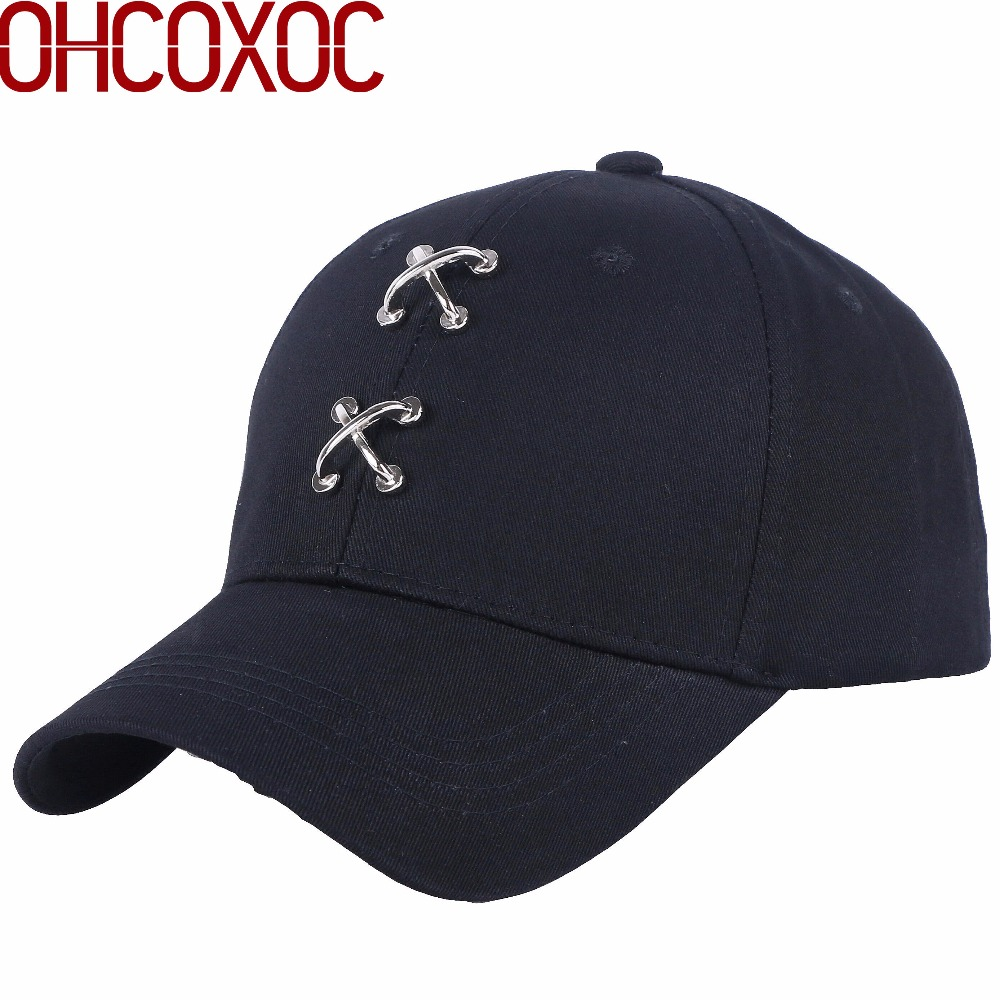 Apparel Accessories Women Mens Hip Hop Cap Active Hats Novelty Design Metal Rings Fixed To Caps Adjustable Male Female New Fashion Baseball Cap