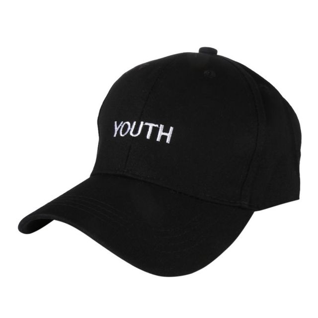993c1689c6a Korea Women Men Baseball Caps Youth Letter Embroidery Hats Casual Spring  Black White Hat Snapback Women s Cap Youth Letter