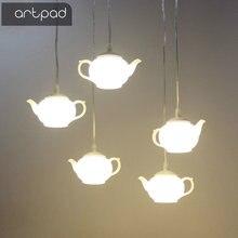 Artpad Modern Art Decorative Teapot Pendant Light Lamps Exterior Dining Room Bar Hotel Acrylic LED Hanging Lamp Lighting