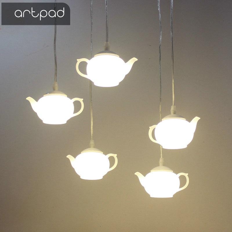 Artpad Modern Art Decorative Teapot Pendant Light Lamps Exterior Dining Room Bar Hotel Acrylic LED Hanging Lamp Pendant Lighting
