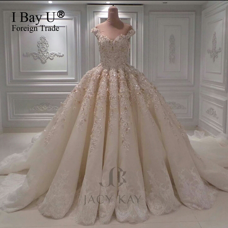 New bride luxury heavily beaded top wedding dresses with for Www dhgate com wedding dresses