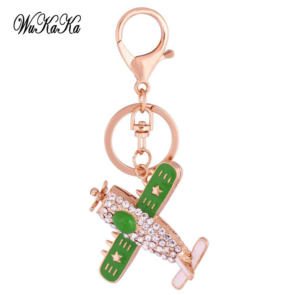 2018 Crystal 3D Combat aircraft keychain For Men Car Keyring Jewelry Women s  Bag Pendent Rhinestone airplane d6f42e50c7