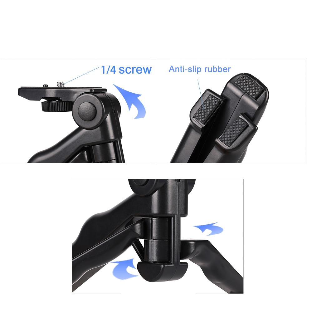 Image 4 - Kaliou Go pro Accessories Mini Tripod Monopod Selfie Stick Mibile Phone Tripod for Go pro 7 6 5 4 3 Sj4000 Sj8 pro Smartphone-in Live Tripods from Consumer Electronics