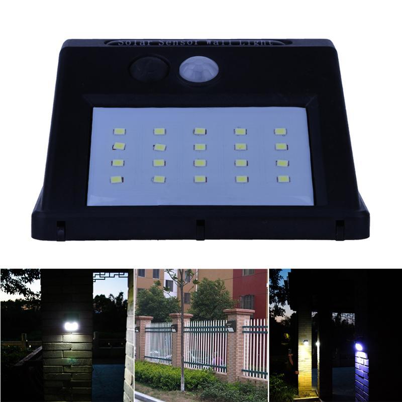 20 LED Solar Licht Motion Sensor Solar Powered LED Lampe Outdoor ...