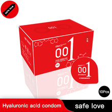 OLO 10 Pcs Ultra Thin Cock Condom Intimate Goods Sex Products Natural Rubber Latex Penis Sleeve for Men Wholesale Lots Bulk